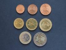 1 euromynt, europeisk union, Litauen Arkivfoton