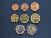1 euromynt, europeisk union, Litauen Arkivbilder
