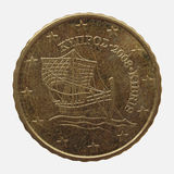 Euromynt från Cypern Fotografering för Bildbyråer