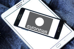Euronews channel logo Royalty Free Stock Image