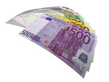 Euronotes. Many money made of all euronotes stock illustration