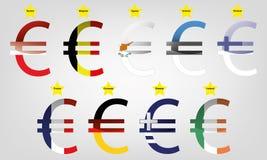 Euroområdedel 1 Vektor Illustrationer