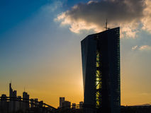 Europäische Zentralbank, έδρα Ευρωπαϊκής Κεντρικής Τράπεζας, FR Στοκ Εικόνα