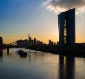 Europäische Zentralbank, штабы Европейского Центрального Банка, Fr Стоковое Фото
