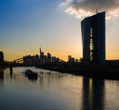 Europäische Zentralbank, jefaturas del Banco Central Europeo, franco Foto de archivo