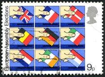Europäer Assembley-Wahlen Stockfotos