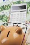 Europäer Expences-Kosten Lizenzfreie Stockfotografie