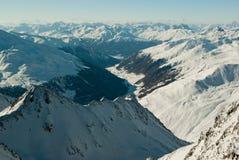 Europäische Alpen im Winter Lizenzfreies Stockbild