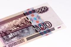 Europäische currancy Banknote, russischer Rubel Stockfoto