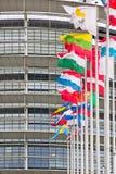 Europäische Flaggen-Sprachen Stockbilder