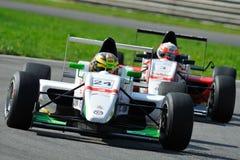 Europäische Formel Abarth in der Monza-Rennenspur Lizenzfreie Stockfotografie