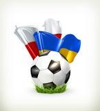 Europäische Fußball-Meisterschaft 2012 lizenzfreie abbildung