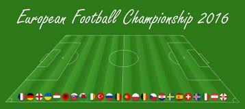 Europäische Fußball-Meisterschaft - EM 2016 lizenzfreie abbildung