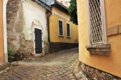 Europäische Gasse, Szentendre Ungarn lizenzfreies stockfoto