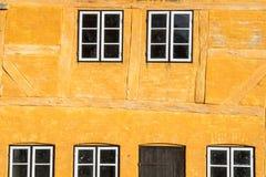 Europäische Gebäudearten, Bauholz gestaltet lizenzfreie stockfotografie