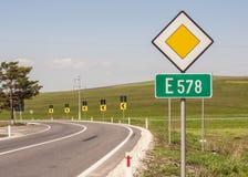Europäische Landstraße Lizenzfreies Stockfoto