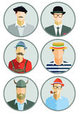 Europäische Männer lizenzfreie abbildung