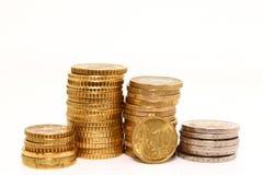 Europäische Münzen Lizenzfreie Stockfotografie