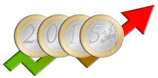 Europäische Münzen Lizenzfreies Stockfoto