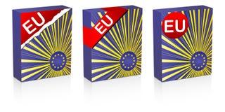 Europäische Markierungsfahne Stockfotografie