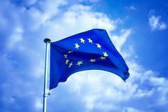 Europäische Markierungsfahne Stockbild