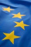 Europäische Markierungsfahne Stockfoto