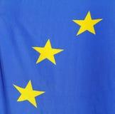 Europäische Markierungsfahne Stockfotos