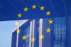 Europäische Markierungsfahne Brüssel lizenzfreie stockfotos