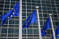 Europäische Markierungsfahne Brüssel Stockfotos