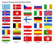 Europäische Markierungsfahnen Lizenzfreies Stockfoto