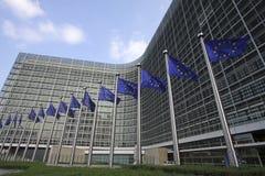 Europäische Markierungsfahnen in Brüssel Stockfoto
