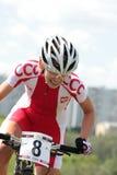 Europäische Meisterschaften im Gebirgsfahrrad Stockbilder