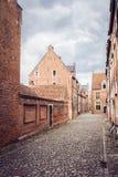 Europäische mittelalterliche Straße Lizenzfreies Stockbild
