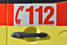 Europäische Notrufnummer 112 Stockbilder