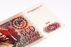 Europäische russischer Rubel currancy Banknote 500 Stockfoto