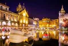 Europäische Stadt von Sport 2018 stockfoto