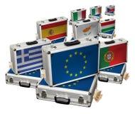 Europäische Währungskrise stockbild