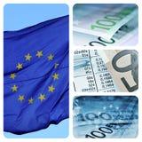 Europäische Wirtschaftlichkeitcollage Stockbild