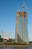 Europäische Zentralbank-Aufbau Stockfotos