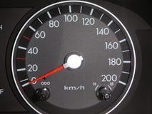 Europäischer Auto-Geschwindigkeitsmesser Stockbild