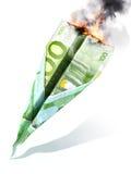 Europäischer Börsenkrach oder Abteilungs-Konzept Lizenzfreies Stockbild