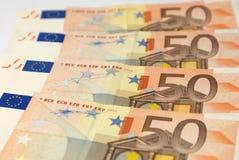 Europäischer Bargeldabschluß oben Stockbild