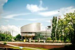 Europäischer Gerichtshof für Menschenrechte - Neigungschiebeansicht Lizenzfreies Stockfoto