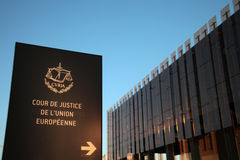 Europäischer Gerichtshof von Gerechtigkeit Lizenzfreie Stockfotografie
