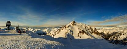 Europäisches Alpenpanorama Stockbild