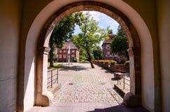 Europäisches altes altes Schloss Lizenzfreie Stockfotografie