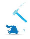 Europäisches Bankwesen- und Wirtschaftlichkeitskrisenkonzept lizenzfreie abbildung