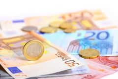 Europäisches Bargeld Stockbild