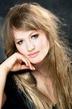 Europäisches blondes Mädchen Stockfoto