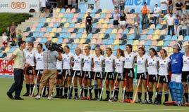 Europäisches Cup Deutschland 2011 Deutschland-V Belgium.Hockey Stockbilder